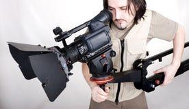 Videocamera portatile di Hd sulla gru Fotografia Stock