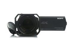 Videocamera portatile di Sony FDR AX100 4k UHD Handycam Fotografia Stock