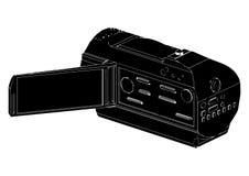 Videocamera portatile dilettante nera royalty illustrazione gratis