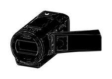 Videocamera portatile dilettante nera illustrazione di stock