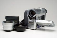 Videocamera portatile ed accessori Immagini Stock Libere da Diritti