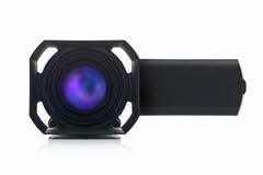 Videocamera portatile Front View di Handycam Fotografie Stock Libere da Diritti