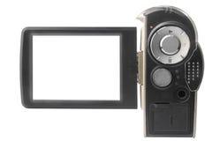 Videocamera portatile isolata Fotografie Stock Libere da Diritti