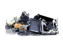 Videocamera portatile rotta Fotografie Stock