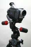 Videocamera portatile sul treppiedi Fotografia Stock Libera da Diritti