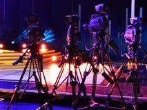 Videocamera's in de studio stock afbeelding