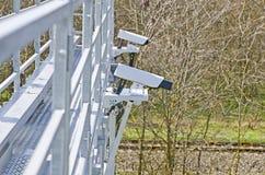 Videocamera's voor videotoezicht stock afbeeldingen