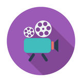 Videocamera. Single flat color icon. Vector illustration Royalty Free Stock Images