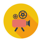 Videocamera. Single flat color icon. Vector illustration Royalty Free Stock Photos