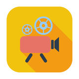 Videocamera. Single flat color icon. Vector illustration Royalty Free Stock Image
