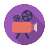 Videocamera. Single flat color icon. Vector illustration Royalty Free Stock Photography