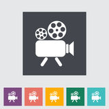 Videocamera. Single flat icon Vector illustration Stock Image