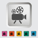 Videocamera. Single icon Vector illustration Royalty Free Stock Image