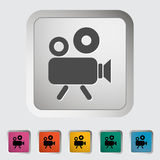 Videocamera. Single icon Vector illustration Royalty Free Stock Photos