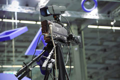 Videocamera in television studio Royalty Free Stock Images