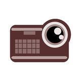 videocamera , Vector illustration over white background Stock Image