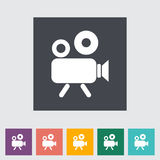 Videocamera. Single flat icon Vector illustration Royalty Free Stock Photography