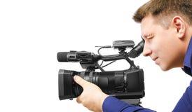 Videocameraexploitant Stock Fotografie