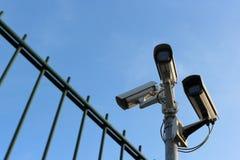 Videocamere di sicurezza Fotografie Stock