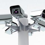 Videocamere di sicurezza, 3d Immagine Stock