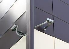 Videocamere di sicurezza del CCTV. Fotografie Stock Libere da Diritti