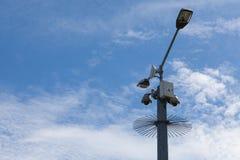 Videocamere di sicurezza e punto di WiFi Fotografia Stock Libera da Diritti