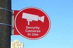 Videocamere di sicurezza in uso Immagini Stock Libere da Diritti