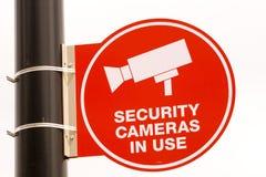Videocamere di sicurezza in uso Fotografie Stock Libere da Diritti