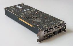 Videocard moderno do PCI do computador no fundo branco fotografia de stock royalty free
