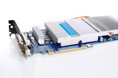 Videocard PCI express isolated on the white background Royalty Free Stock Image