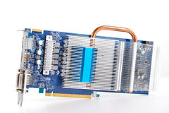 Videocard PCI express isolated on the white background Stock Images