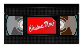Videocassetta di film di Natale Fotografie Stock