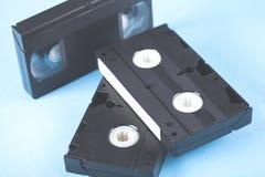 Videocassette op lijst royalty-vrije stock afbeeldingen
