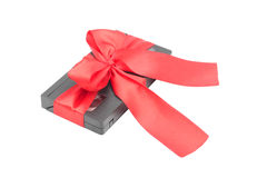 Videocassette tied with a ribbon Royalty Free Stock Image