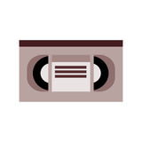 Videocassette , Vector illustration over white background Stock Photography