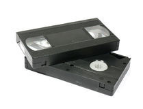 Videocassettes. For house viewing videofilms Royalty Free Stock Image