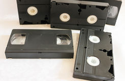 Videocintas viejas fotografía de archivo