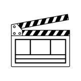 videoclapperboard geïsoleerd pictogram Stock Fotografie
