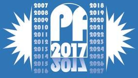 Videoclip 2017 del nuovo anno Simbolo animato PF 2017, progettazione corporativa blu-chiaro moderna elegante royalty illustrazione gratis