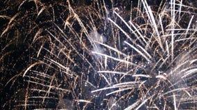 Videoclip stilizzato dei fuochi d'artificio video d archivio