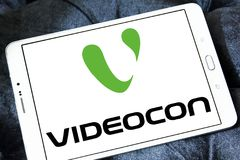 Videocon公司商标 免版税图库摄影