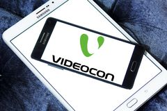 Videocon-Firmenlogo Stockbilder