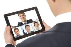 Videoconferência Fotografia de Stock Royalty Free