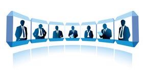 videoconference stock illustrationer