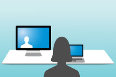 Videoconferencing concept Royalty Free Stock Image