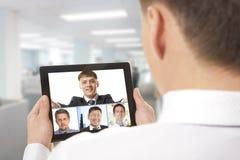 Videoconferentie stock afbeeldingen