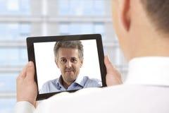 Videoconferentie stock foto's