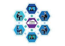 Videoconferenza di affari Immagini Stock Libere da Diritti