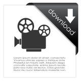 Videodownloadikone Stockbild