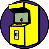 Videogame arcade machine vector illustration. Vector illustration of a videogame arcade machine Royalty Free Stock Image